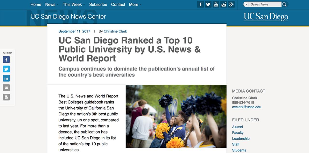 UC San Diego News Center – Waltman Design